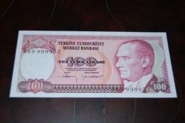 1983  Türkei 100  Lira  / 7. Emisyon 1. Tertip Serie : A  / UNC - Turquie