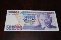 1997 Türkei 500,000  Lira  / 7. Emisyon 4. Tertip Serie : I  / UNC - Turquie