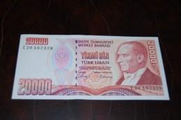 1988 Türkei 20,000  Lira  / 7. Emisyon 1. Tertip Serie : E  / UNC - Turquie
