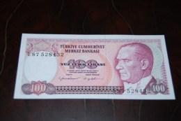 1984  Türkei 100  Lira  / 7. Emisyon 2. Tertip Serie : E  / UNC - Turquie