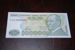 1979  Türkei 10 Lira  / 7. Emisyon 1. Tertip Serie : A  / UNC - Turquie