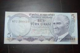 1976 Türkei 5 Lira  / 6. Emisyon 2. Tertip Serie : K / UNC - Turquie