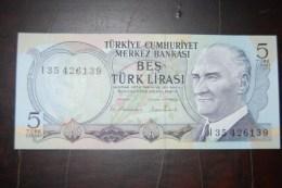 1976 Türkei 5 Lira  / 6. Emisyon 2. Tertip Serie : I / UNC - Turquie