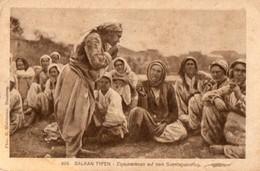 ROUMANIE. CPA.  BALKAN TYPEN. Zigeunerinnen Auf Dem Sonntagsauaflug. 1918. - Romania