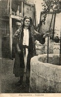 ALBANIE. CPA.  Argirocastro.  Femme En Costume. Puits.  1917. - Albanien