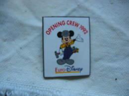 Pin's Euro Disney, Mickey, Opening Crew 1992 - Disney
