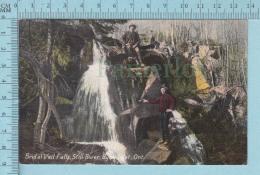 CPA Voyagé 1908-  Brid Al Veil Falls, Still River Byng Inlet Ontario, Animated  - Timbre CND #89 - Non Classés