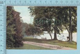 CPA Voyagé 1908 -Couchiching Beach Park, Orillia  Ontario ,  - Timbre CND #89 - Non Classés