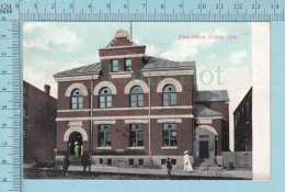 CPA Voyagé 1909 - Post Office Animated Orillia Ontario, Valentine  - Timbre CND #89 - Non Classés