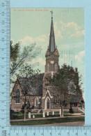 CPA Voyagé 1909 - St. James Church Orillia Ontario, Valentine  - Timbre CND #89 - Non Classés