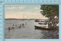CPA Voyagé 1907 - Bathing Canoe  At Lake Couchiching Orillia Ontario - Timbre CND #89 - Non Classés