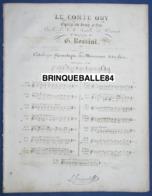 OPÉRA PIANO GF PARTITION XIX CHANT GIACOMO ROSSINI LE COMTE ORY SCRIBE POIRSON DUO 3 NOURRIT JAVURECK 1828 - Musique & Instruments