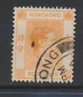 HONG KONG, 1938 4c P14½x14 Fine Used (N) - Hong Kong (...-1997)