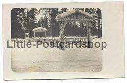 Foto Friedhof Des Landwehr Inf. Regt. 72 Beim Westfalen Lager Schtschara Russland 1917 Bei Baranowitschi Weissrussland - Guerra 1914-18