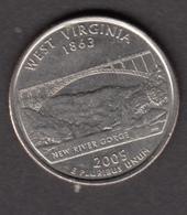 USA, 2005, West Virginia, Pont, Bridge - 1999-2009: State Quarters
