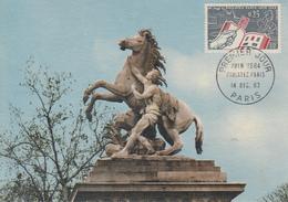 Carte  Maximum  1er  Jour    FRANCE   PHILATEC   1963 - Cartes-Maximum