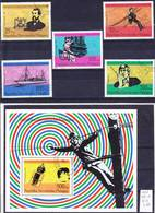 2017-0404 Madagascar 1976 Post And Telecommunication Complete Set And MS Mi 794-799, MS 12 Used O - Post