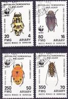 2017-0406 Madagascar 1988 WWF Beetles Complete Set Mi 1157-1160 Used O Rare! - W.W.F.