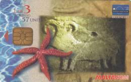 MALTA - Starfish, Riccione 2001/Air Malta, Tirage 10000, 08/01, Used - Malta