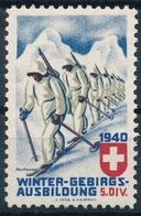 1940 WINTER-GEBIRGS-AUSBILDUNG 5. DIV. - Postfrisch/** - Vignettes