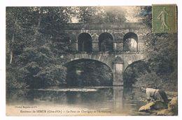 CHEVIGNY  21  Le Pont Sur L' Armançon En 1917 - Autres Communes