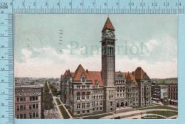 CPA Voyagé 1908 - Toronto City Hall Ontario, Galbraith Photo Co. - Timbre CND #89 - Non Classés