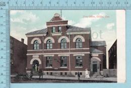 CPA Voyagé 1907 - Post Office Orillia  Ontario - Timbre CND #89 - Non Classés