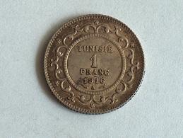 TUNISIE 1 FRANC 1916 A Argent Silver Tunisia - Tunisie
