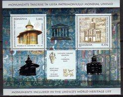2008 Romania / Rumanien - Joint Issue With Russia - Unesco Churches In Russia Dn Romania - MS - Paper - MNH** Mi B 431 - Emissioni Congiunte