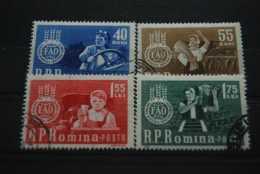 Rumänien 1963 , Kampf Gegen Den Hunger ( FAO ) / Mi. 2126 - 29  Gestempelt - Contro La Fame