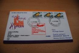 Lufthansa 1980 Erstflug  DC 10 / LH 691   Melbourne - Sydney - Kuala Lumpur -  Karachi - Frankfurt - Australie