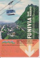 Biglietto Di Trasporto Per Funivia (San Marino) - Biglietti Di Trasporto