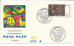 FDC Fidacos Mi 1029 - 14 November 1979 - Artist Modern Art Paul Klee - [7] Federal Republic