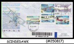 AUSTRALIA - 2005 AEROGRAMME To USA With BERMUDA AVIATION STAMPS - REGISTERED - Postal Stationery