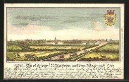 """Lithographie Aurich, Ortsansicht """"vor 100 Jahren"""" Auf Dem Wege Nach Leer - Leer"""