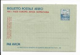 Triest  LF 1 ** -  60 Lire  Gebirge Mit Flugzeug  Aerogramm  M. Aufdr. AMC-FTT - Italien