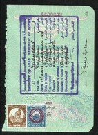 Egypt  Revenue Stamps On Used Passport Visas Page - Syria