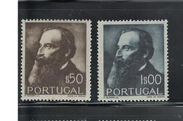 """PORTUGAL. 1951 """"GUERRA JUNQUEIRO - POET"""" #727-728 MNH - Ungebraucht"""