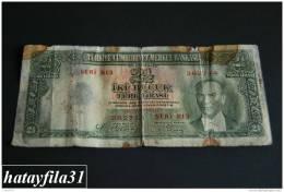 1939 Türkei - 2,5 Lira /  2. Emisyon 1. Tertip - Serie  B 13 - Gebraucht , Geld Auf Dem Foto  Bekammen Sie - Turkey