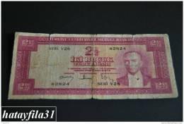1957 Türkei - 2,5 Lira /  5. Emisyon 3. Tertip - Serie  V 28  - Gebraucht , Geld Auf Dem Foto  Bekammen Sie - Turkey