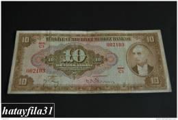 1948 Türkei - 10 Lira /  4. Emisyon 2. Tertip - Serie  C 03 - Gebraucht , Geld Auf Dem Foto  Bekammen Sie - Turkey
