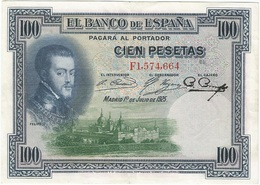 España - Spain 100 Pesetas 1-7-1925 Pcik 69c Ref 668-2 - [ 1] …-1931 : Primeros Billetes (Banco De España)