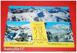 Lagazuoi - P. Falzarego - S. Cassiano - Cortina   Gelaufen   Ohne Briefmarke - Italia