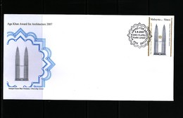 Malaysia 2007 Architecture Award FDC - Malasia (1964-...)