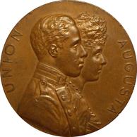 ESPAÑA. ALFONSO XIII. MEDALLA BODA DE ALFONSO XIII Y VICTORIA EUGENIA DE BATTENBERG. 1.906. ESPAGNE. SPAIN MEDAL - Royaux/De Noblesse