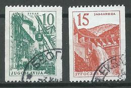 Yougoslavie YT N°742/743 Série Courante (Roulette) Oblitéré ° - Usados
