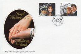 IOM 1986 Royal Wedding FDC AS SCAN - Isle Of Man