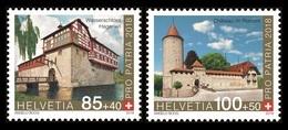 Switzerland 2018 Mih. 2539/40 Pro Patria. Fortresses And Castles MNH ** - Switzerland