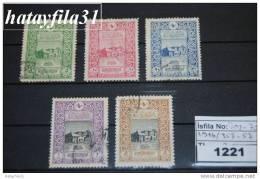 TÜRKEI 1916 , 50 Jahre Postamt In Konstantinopel - Mi. 353 - 357  Gestempelt - Gebraucht