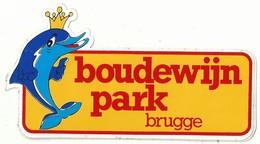 Sticker - Boudewijnpark BRUGGE - Dolfijn - Autocollants